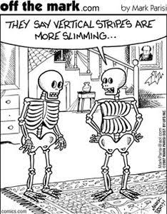 Skeleton comic humour