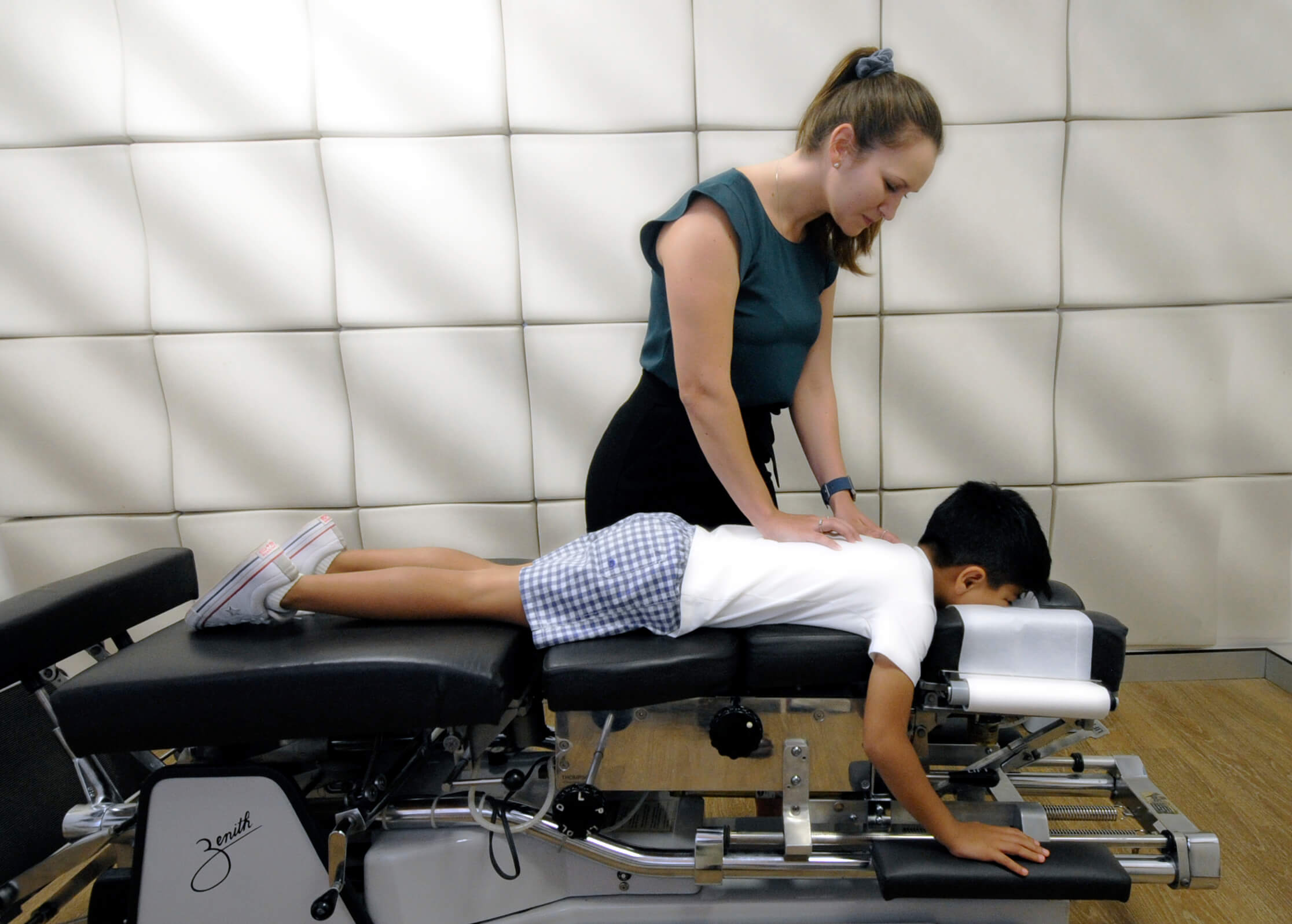 Allison Kaczmarczyk, chiropractic care for a boy patient